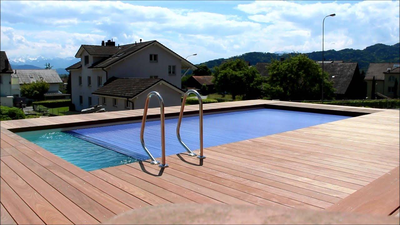 Rivierapool solar polycarbonat rollladenabeckung - Riviera pool ...