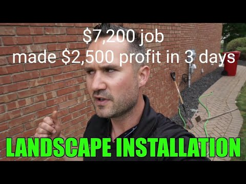 $7,200 Landscape Install and Decorative Stone Job - How much to charge - Tutorial Walkthrough - 동영상