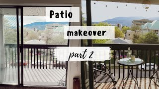 Decorate your APARTMENT PATIO on a BUDGET | PART 2!!!