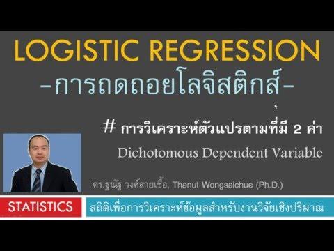 Logistic Regression - การถดถอยโลจิสติกส์