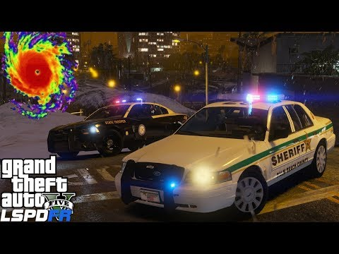 GTA 5 LSPDFR #547 | Palm Beach Sheriff & Florida Highway Patrol Enforcing Hurricane Irma Curfew