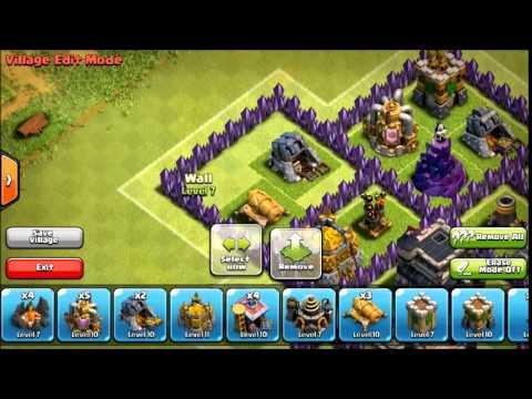 Clash Of Clans - TH8 Clan Wars Base (After Hog Update, July 2014) Spider Web