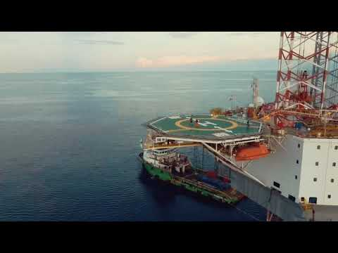 Asian Endeavour 1 Rig - Offshore Exercise Sore Drone Video