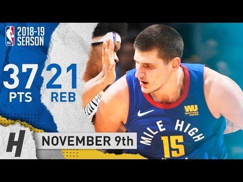 Nikola Jokic SICK Highlights Nuggets vs Nets 2018.11.09 - 37 Points, 21 Reb