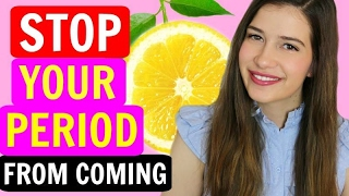 How To Stop Your Period From Coming! | HACKS!