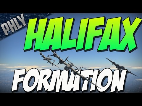 HALIFAX BOMBER FORMATION (War Thunder Bomber Gameplay)