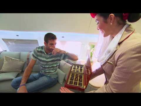 Del Potro in Emirates Executive A319 Private Jet | Tennis | Emirates Airline
