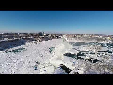 Drone Over Frozen Niagara Falls!!!