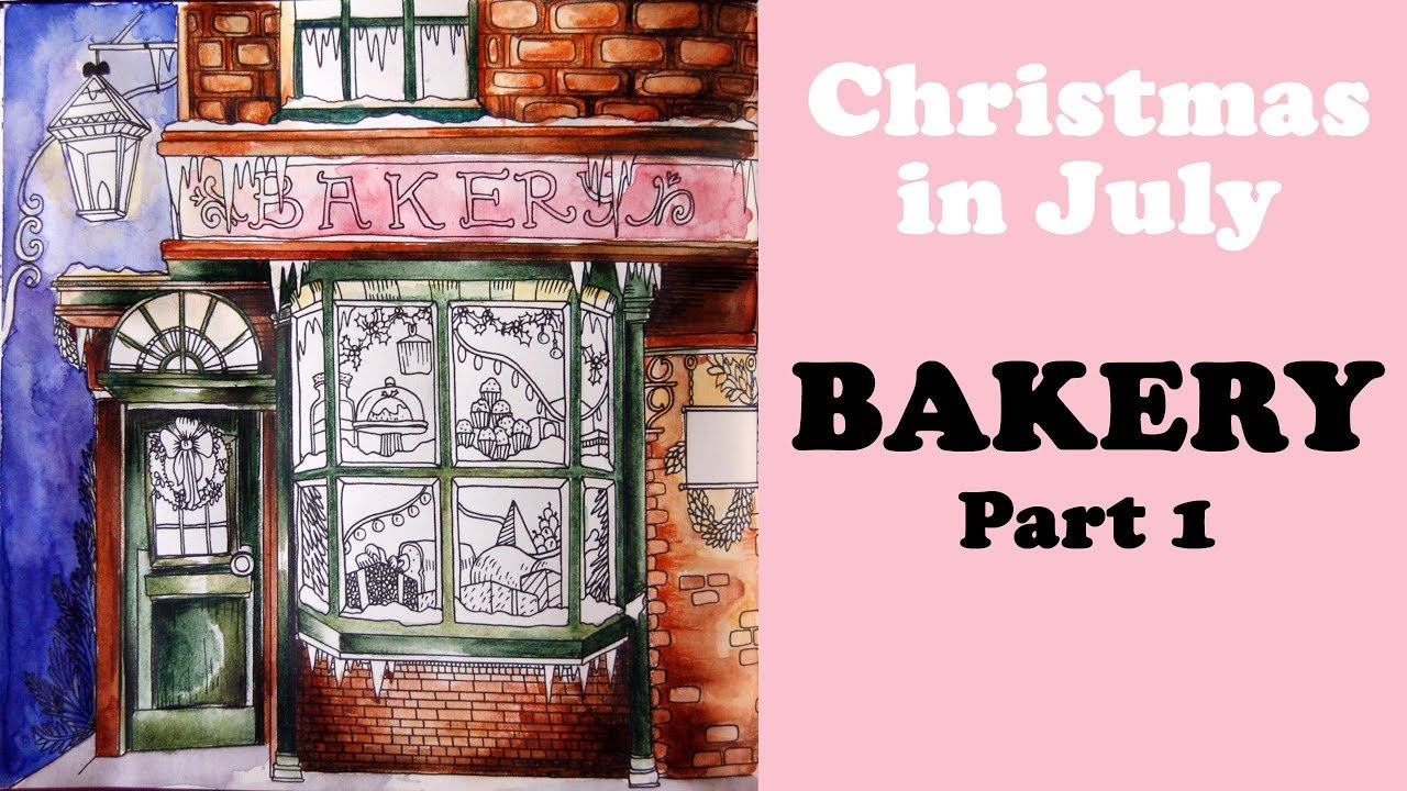 Christmas In July Coloring.Christmas In July Victorian Bakery Part 1 Coloring In Escape To Christmas Past Book