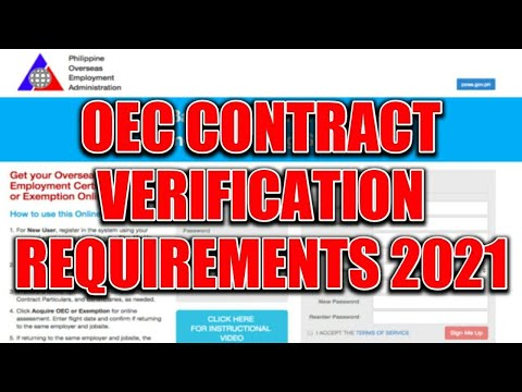 OEC CONTRACT VERIFICATION REQUIREMENTS