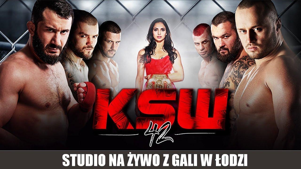 KSW 42: Na żywo studio w media roomie, rozmowy, wywiady, plotki