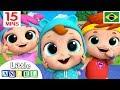 Cabeça, Ombro, Joelho e Pé! | + Clássicos Infantis | Little Angel Português