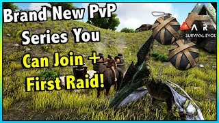 GETTING STARTED ON NEW VANILLA CLUSTER PVP SERIES! SMALL TRIBES EP 1! ARK SURVIVAL EVOLVED!