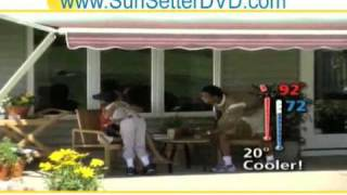 Texas Sunsetter- Retractable Porch Awning And Deck Sun Shade