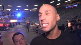 JAMES DeGALE (POST WEIGH IN) ON LUCIAN BUTE, MAKING WEIGHT, NEW HAIRCUT & BEING JEERED BY BUTE FANS