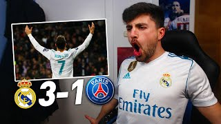REACCIONES DE UN HINCHA REAL MADRID vs PSG 3-1 | OCTAVOS DE FINAL CHAMPIONS LEAGUE