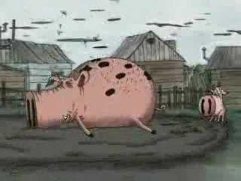 картинка свинья лежит