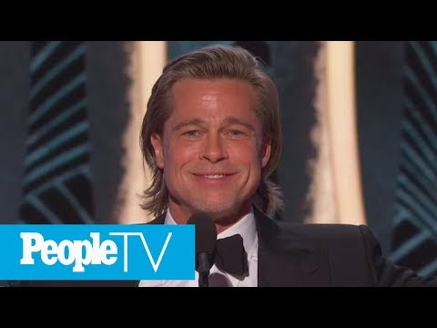 Jennifer Aniston Laughs At Brad Pitt's Golden Globes Joke About His Dating Life | PeopleTV