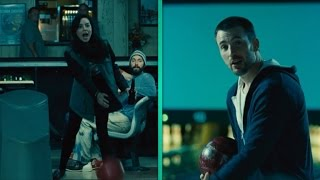 EXCLUSIVE: Aubrey Plaza Hurls Bowling Balls at Chris Evans in 'Playing It Cool'
