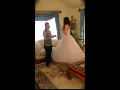 Bridal Buddy poofy gown challenge!