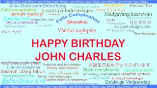 JohnCharles   Languages Idiomas - Happy Birthday