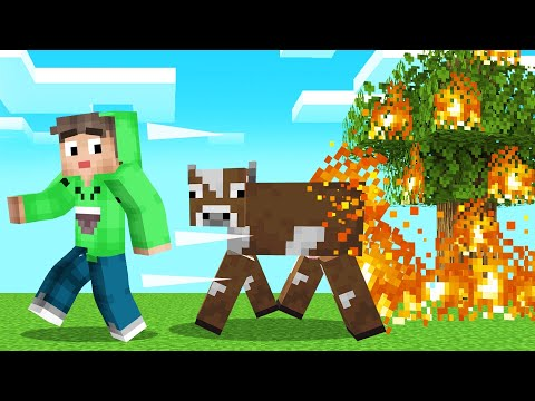 MOBS Leave A *DEADLY* FIRE TRAIL In MINECRAFT! (Dangerous)