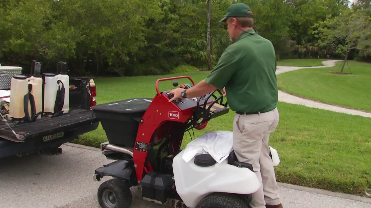 Toro Stand On Spreader Sprayer Youtube