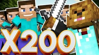 200 FANS VS 1 - THE GREATEST BATTLE IN MINECRAFT HISTORY