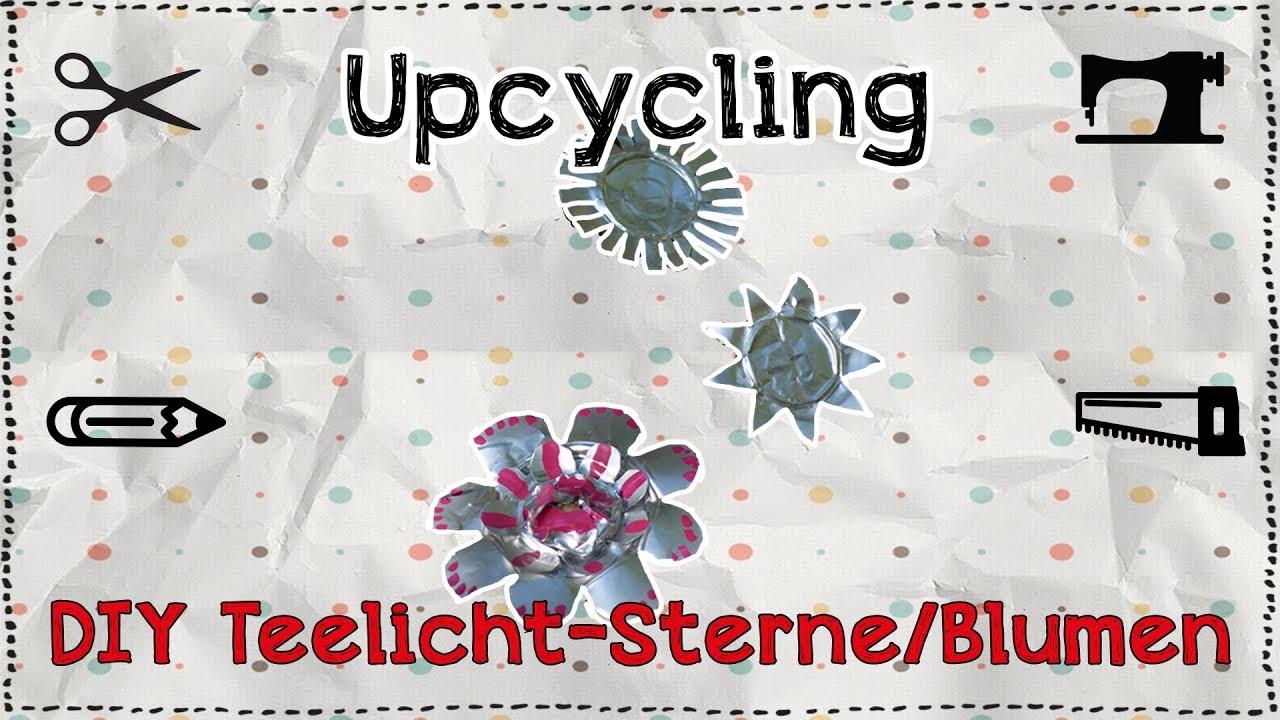 Christbaumkugeln Sterne.Diy Upcycling Teelicht Sterne Blumen Tutorial