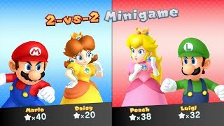 Mario Party 10 Whimsical Waters Party Mode - Mario vs Luigi vs Peach vs Daisy