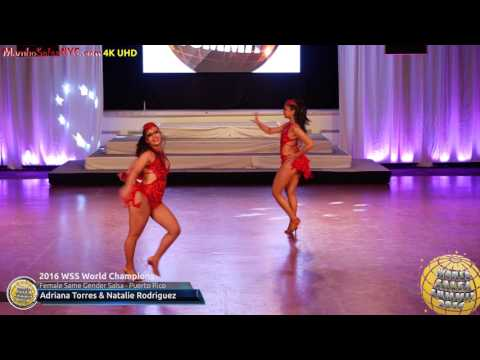 WSS16 Professional Female Same Gender Salsa World Champions Adriana Torres & Natalie Rodriguez