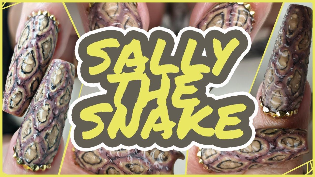 Sally the Snake   Snake Skin Nail Tutorial!