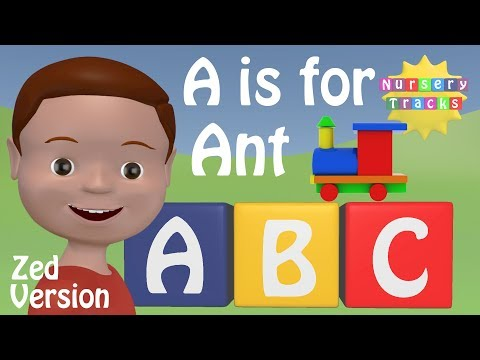 Best ABC Alphabet Song | A is for Ant | ZED version | New in 3D