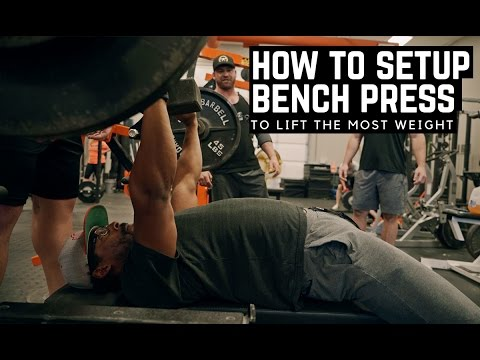 How To Setup The Bench Press To Lift The Most Weight W/ EliteFTS Athlete Christian Anto