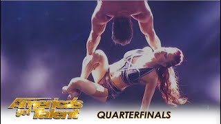 Duo Transcend: Guy Recreates The Act That Nearly KILLED His Wife | America's Got Talent 2018