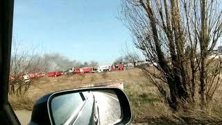 Incendiu la un parc auto langă Ploiesti Shopping City