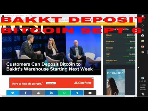 Bakkt Exchange Crypto Customers Can Deposit Bitcoin to Bakkt's Warehouse Starting Next Week