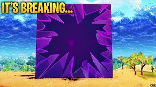 I AM BREAKING THE CUBE IN FORTNITE! WHAT'S INSIDE THE CUBE? Unless i can't break it lol.