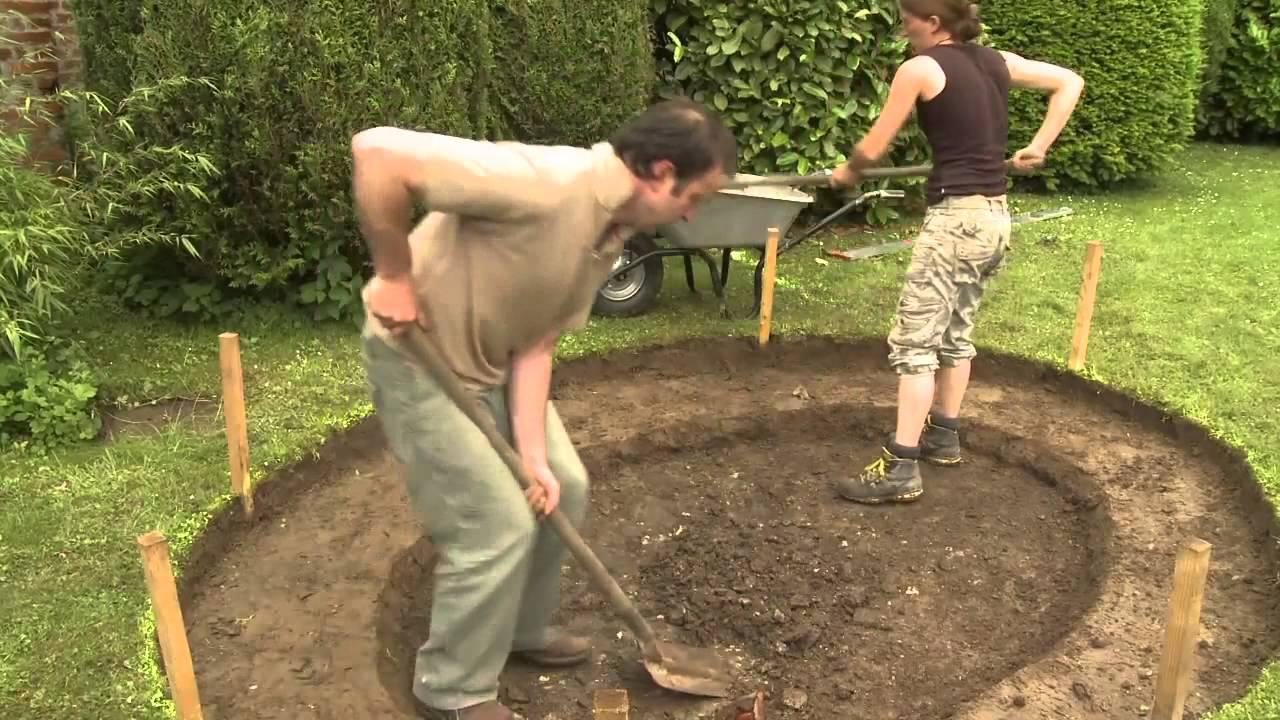 Construire Bassin De Jardin Avec Liner  Youtube