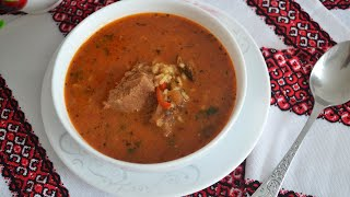 Суп харчо из говядины (Kharcho soup with beef)