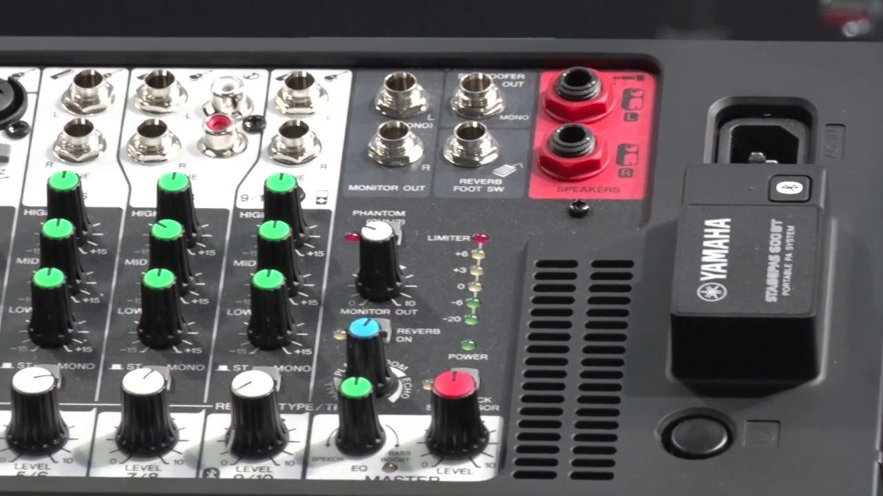 Yamaha Stagepas 400bt 600bt Mixer With Bluetooth