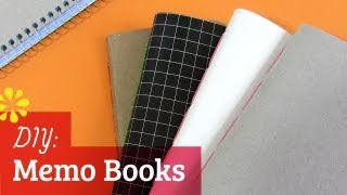 How to Make a Notebook: Saddle Stitch Memo Books