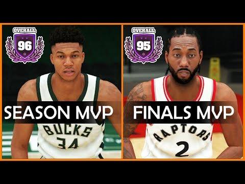 NBA Season And Finals MVP Overalls In NBA 2K [2000 - 2019]