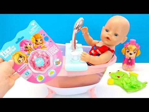 Купаю Беби Бон Алису Растворяю Шарик для Ванны с Сюрпризом Мультики для детей 108мама тв