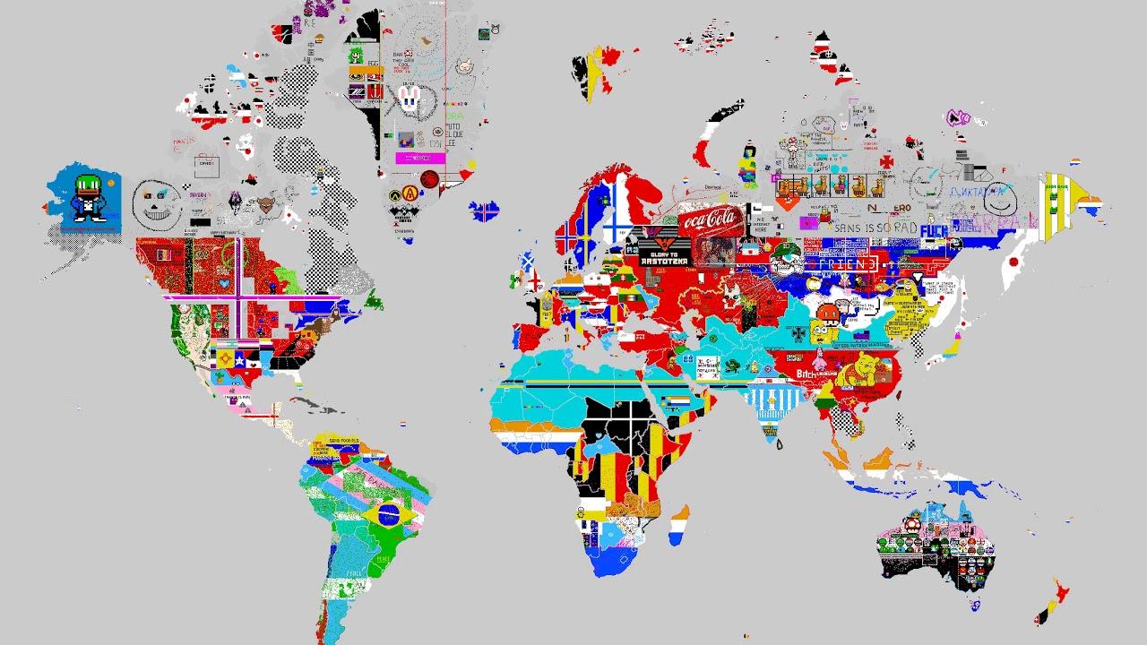 April 20, 2019 - Pixels World War - 24 hours time lapse