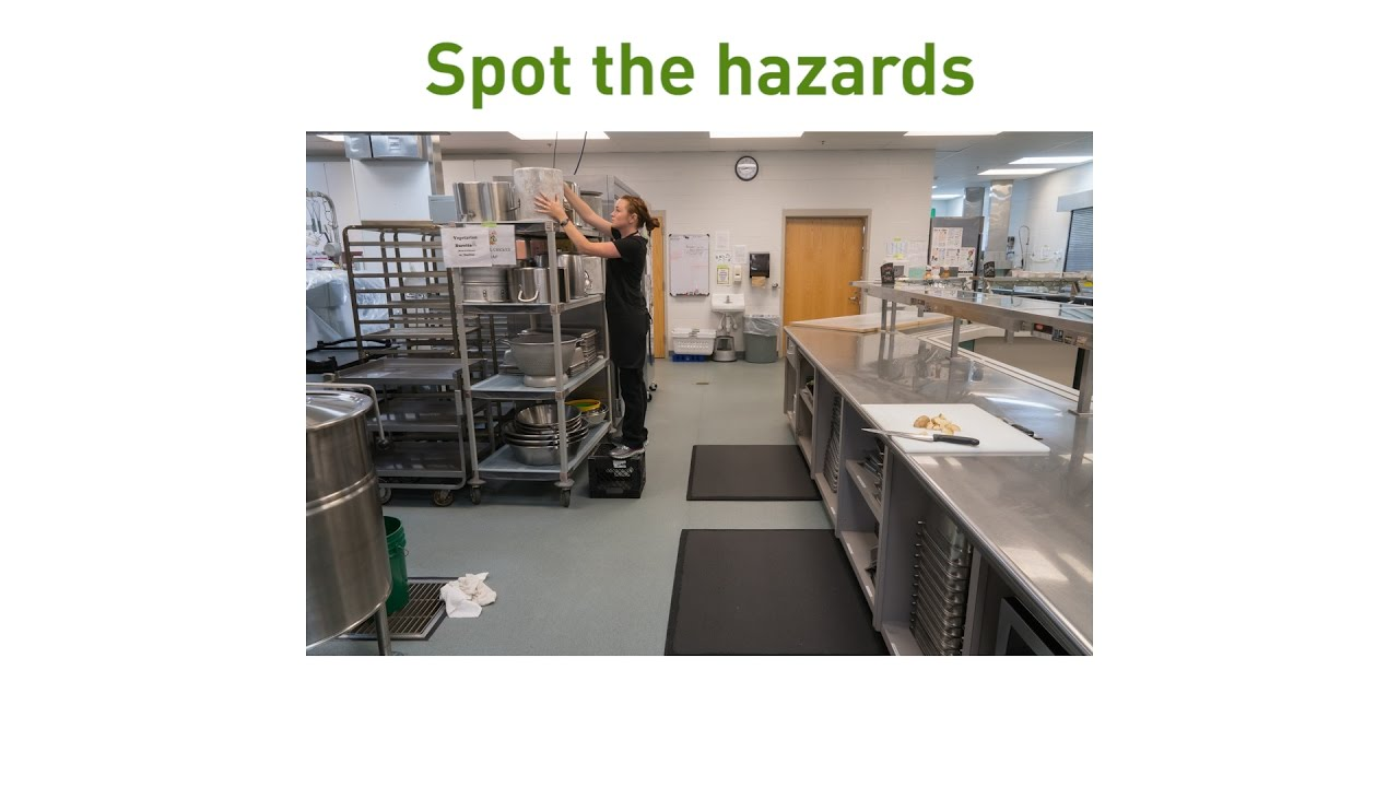 82 workplace spot the dangers an example of the spot for 5 kitchen safety hazards