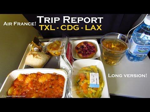 TRIP REPORT | AIR FRANCE (ECONOMY) | Berlin - Paris - Los Angeles |  A321 + B777-200 [Full HD]