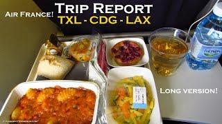 [Tripreport] | TXL-CDG-LAX | Air France A321 + B777-200 | Economy Class [Full HD]