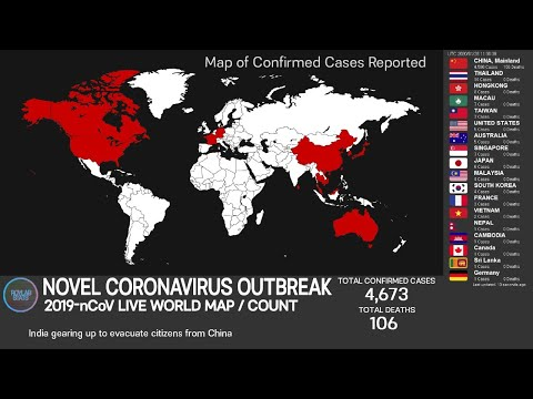 [LIVE ENDED] WUHAN Novel Coronavirus WORLD MAP/COUNT (on Confirmed Case, Death)