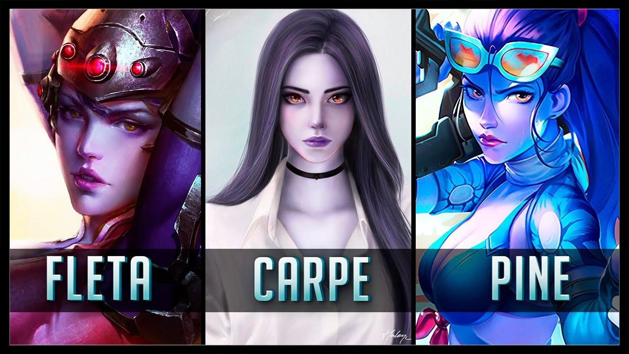 FLETA vs CARPE vs PINE - Gods of WIDOWMAKER 😱 | Overwatch Moments